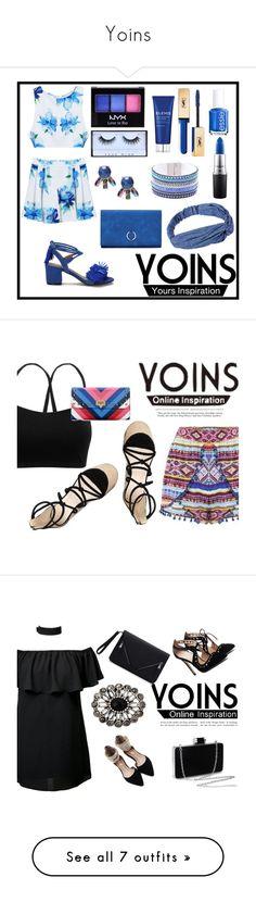 """Yoins"" by emmy-124fashions ❤ liked on Polyvore featuring NYX, Huda Beauty, MAC Cosmetics, Elemis, Yves Saint Laurent, Essie, yoins, loveyoins, Oris and Boohoo"