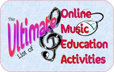 The Ultimate List of Online Music Education Activities