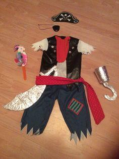 Homemade pirate costume for #worldbookday                                                                                                                                                     More