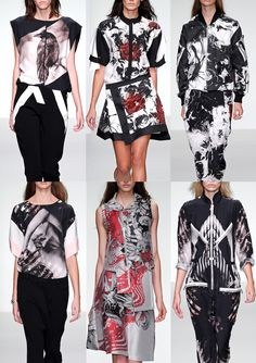 Jean Pierre Braganza S/S 2014  Subtle Photographic Effects – Paint Splattered Abstracts – Morphing Florals – Tonal and Monochromatic – Cut-up and Spliced Pattern –  Graduation and Fading  London Fashion Week   Spring/Summer 2014   Print Highlights   Part 1 catwalks