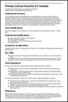 Blogging Basics Cv For Teaching Resume Primary School Teacher Preschool