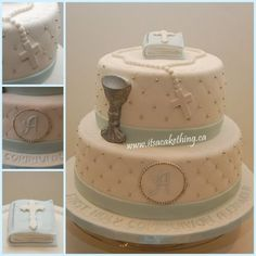First Communion Cake - CakesDecor