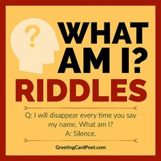 These What Am I riddles are a great way to engage kids to exercise their imaginations and critical thinking skills. Plus, they are fun! Funny Riddles With Answers, What Am I Riddles, Tricky Riddles, Jokes And Riddles, Guess What Jokes, Games For Kids, Activities For Kids, Activity Ideas, Stem Activities