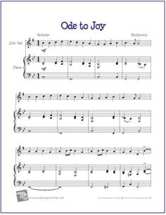 Ode to Joy (Beethoven) | Free Sheet Music for Alto Saxophone