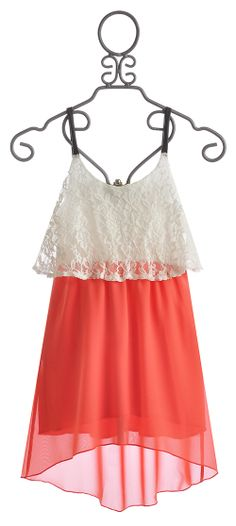 Vintage Havana Tween Dress with Lace $44.00
