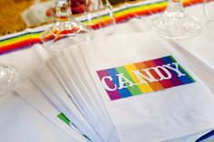 Candy Bags at a Rainbow Party #rainbowparty #candybags