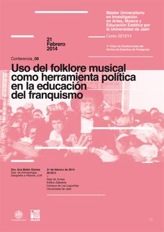 08 / Cartel Ciclo de Conferencias del Máster Oficial de la Universidad de Jaén en Investigación en Artes, Música y Educación Estética – designed by Javi Montoya
