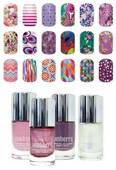 Jamberry nail wraps and lacquer that go well together.  Get yours at:  www.stephanieefinger.jamberrynails.net