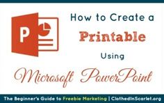 How to Create a Printable Using Microsoft PowerPoint