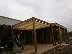 Dřevěná Pergola s posuvnou střechou