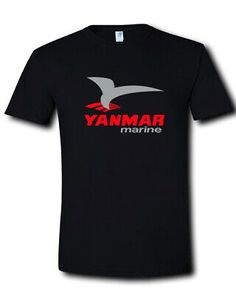 Yanmar Marine Logo Propulsion Auxiliary Boats Engines Black T-Shirt S M L XL 2XL #fashion #clothing #shoes #accessories #mensclo