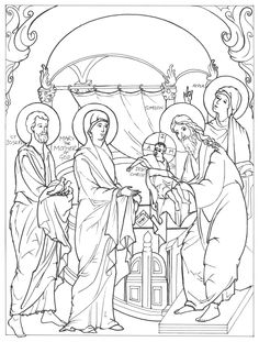 Painting Lessons, Painting & Drawing, Jesus Christ Images, Religious Icons, Orthodox Icons, Line Drawing, Coloring Pages, Sketches, Christian