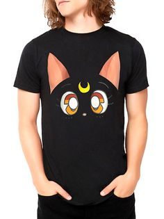 Official Sailor Moon Luna Mens T-Shirt! Buy here http://www.moonkitty.net/buy-new-sailor-moon-tshirts.php