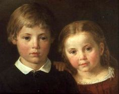 Benno (Six Years) And Elna (Four Years)-Bengt Nordenberg (1822 – 1902, Swedish)