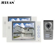 JERUAN 8 inch video door phone doorbell intercom system video doorphone monitor 2 house 1 outdoor recording photo taking