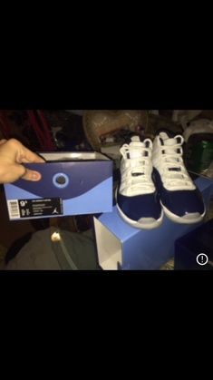 super popular ed3e2 c3844 Air Jordan Retro 11 Blue And White  fashion  clothing  shoes  accessories