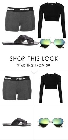 """""""Walking to Gymnastic Practice//Suggested Item Set"""" by aj-horan03 ❤ liked on Polyvore featuring Topshop, Ivy Park and Ancient Greek Sandals"""