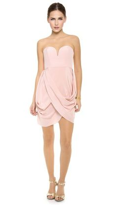 Zimmermann Strapless Drape Dress