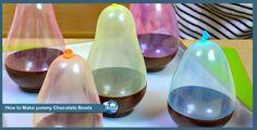 How to Make yummy Chocolate Bowls !