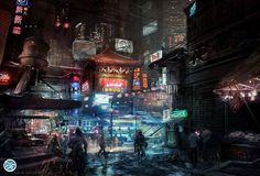 Download hd wallpapers of 11444-digital Art, Science Fiction, Signs, Cyberpunk, City, Futuristic, Asian Architecture. Free download High Quality and Widesc