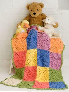 Bobble Blocks Baby Blanket | Yarn | Free  Crochet Pattern | Yarnspirations