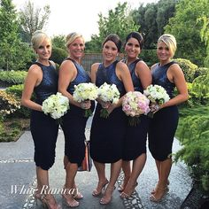 Blue and White Wedding Ideas - Larissa Dress in Navy #whiterunway #bridesmaids #navy #weddings