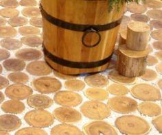 Træfliser - Belægning med robinie træflise