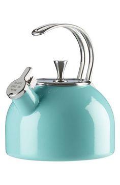 Kate Spade, It's All in Good Taste tea kettle in Turquoise (or Polka Dot), $50 via Nordstrom