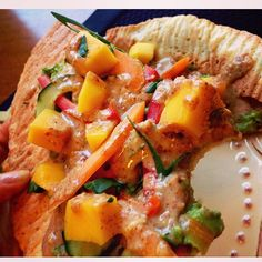 #dinner tonight: Mango & Avocado Flatbread w/ Ginger Almond Butter Drizzle on a Cauliflower Crust! I couldn't control myself & had a bite before I could snap a pic#glutenfree #vegan #paleo #yum BLOG: BATTLING THE MIRROR http://ift.tt/1NIEyXG formerly anorexiarevealed#anorexiarecovery #yoga #EDfam #edfamily #edsoldier #edwarrior #edrecovery #dessert #healthy #fitgirls #cleaneats #fitfam #healthyfood #instafood #food #foodporn #cleaneating #vegetarian #foodie #healthyeats #nutrition…