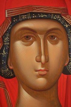Byzantine Icons, Byzantine Art, Religious Icons, Religious Art, How To Drow, Face Icon, Religious Paintings, Best Icons, Monochrom