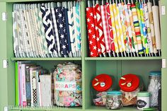 fabric organization and storage