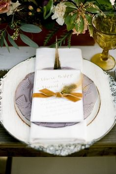 Autumn wedding inspiration with a hint of lilac + mustard | Photo by Jenna Henderson