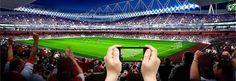 Met Connected Stadium kun je doelpunten terugkijken en statistieken bekijken van de wedstrijd waarnaar je kijkt.