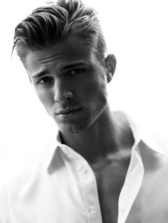 Men take a few lessons from this gorgeous model who knows how to rock an amazing thrown back James Dean hairdo. This look is a great look for most men with any facial shape.