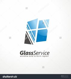 Glass Service Symbol Layout. Windows And Screens Repair Creative Logo Design Concept. Sales, Repairs And Installations. Residential, Commercial And Auto Glass. Glass Cutter. Stock Vector Illustration 359622041 : Shutterstock