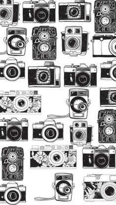 Image uploaded by layse bessa. Find images and videos about black and white, photo and wallpaper on We Heart It - the app to get lost in what you love. Camera Wallpaper, Pattern Wallpaper, Iphone Wallpaper, Camera Drawing, Camera Art, Toy Camera, Phone Backgrounds, Wallpaper Backgrounds, Hipster Vintage