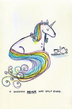 unicorns never have split ends