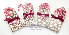 POOTLES Stampin Up ADVENT COUNTDOWN 11 Envelope Punch Board Candy Cane Box