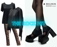 ♫ #Bellmur #PLAYLISTnostalgia ♫  Te proponemos diferentes outfits con #SpecialPrice inspirados en los grandes géneros y ritmos de la Nostalgia.  THE ROCK HIT  - Remera Metalizada // TSCBELL06 - Campera Flecos y Tachas // JKBELL40 - Pantalón Animal Print // PTBELL50 - Sandalia Stones // ZBELL126  ¡Te esperamos en nuestro local de Montevideo Shopping!