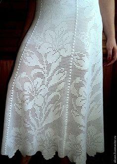 Белые лилии - белый,филейное вязание,Филейное кружево,ажурное вязание