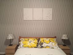 Loving my guest room stencil! Also the canvas is the flying birds stencil http://m.cuttingedgestencils.com/beads-wall-stencil-pattern.html