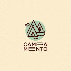 Campamento by Bea R Vaquero @bearvaquero - LEARN LOGO DESIGN  @learnlogodesign @learnlogodesign - Want to be featured next? Follow us and tag #logoinspirations in your post