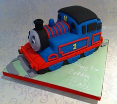 A Thomas the Tank Engine birthday cake for a very sweet 2-year old boy.