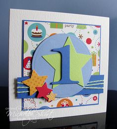 The Card Grotto: October 2011 Happy Birthday 1, Birthday Cards For Boys, 1st Boy Birthday, Handmade Birthday Cards, Greeting Cards Handmade, Birthday Numbers, Birthday Ideas, Boy Cards, Kids Cards