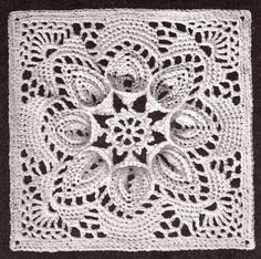 vintage crochet pattern bedspread motif block puritan time left