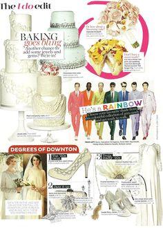 Jessie Feather Fan in Brides Magazine