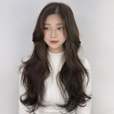 Korean Haircut Long, Korean Long Hair, Korean Hair Color, Korean Hairstyle Long, Haircuts Straight Hair, Long Hair Cuts, Shot Hair Styles, Curly Hair Styles, Ulzzang Hair