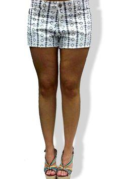 Stone Craft Stella Shorts in White Twill ...