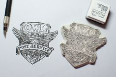 Owl Post Office from Harry Potter.  Rubber Stamp