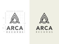 Approved logo for ARCA Records, 2x attached.